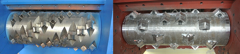main axis of Industrial Single Shaft Shredder