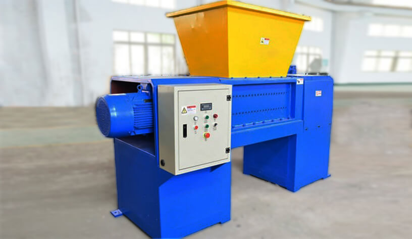 double shaft metal crusher