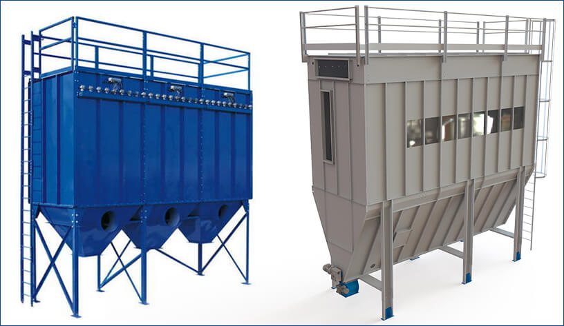 Pulse-jet baghouse dust collector